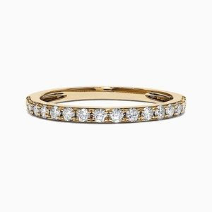 EFFY Jewelry 14K Yellow Gold & Diamond Ring. Dainty. Stackable. Size 7. Perfect